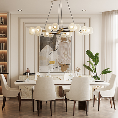MODERN CONTEMPORARY DINING ROOM FEATURING HORUS II