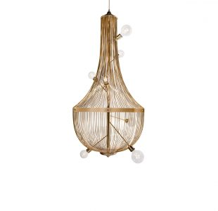 L'Chandelier Suspension Lamp by Boca do Lobo Covet Lighting