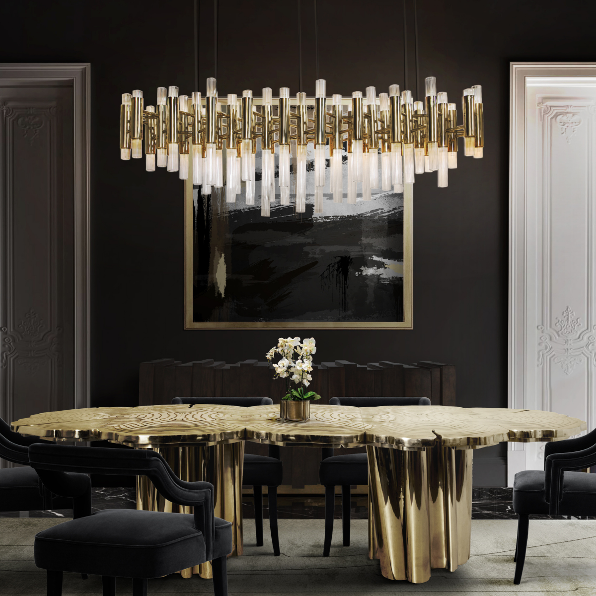 Waterfall Rectangular Suspension Lamp by Luxxu Covet Lighting