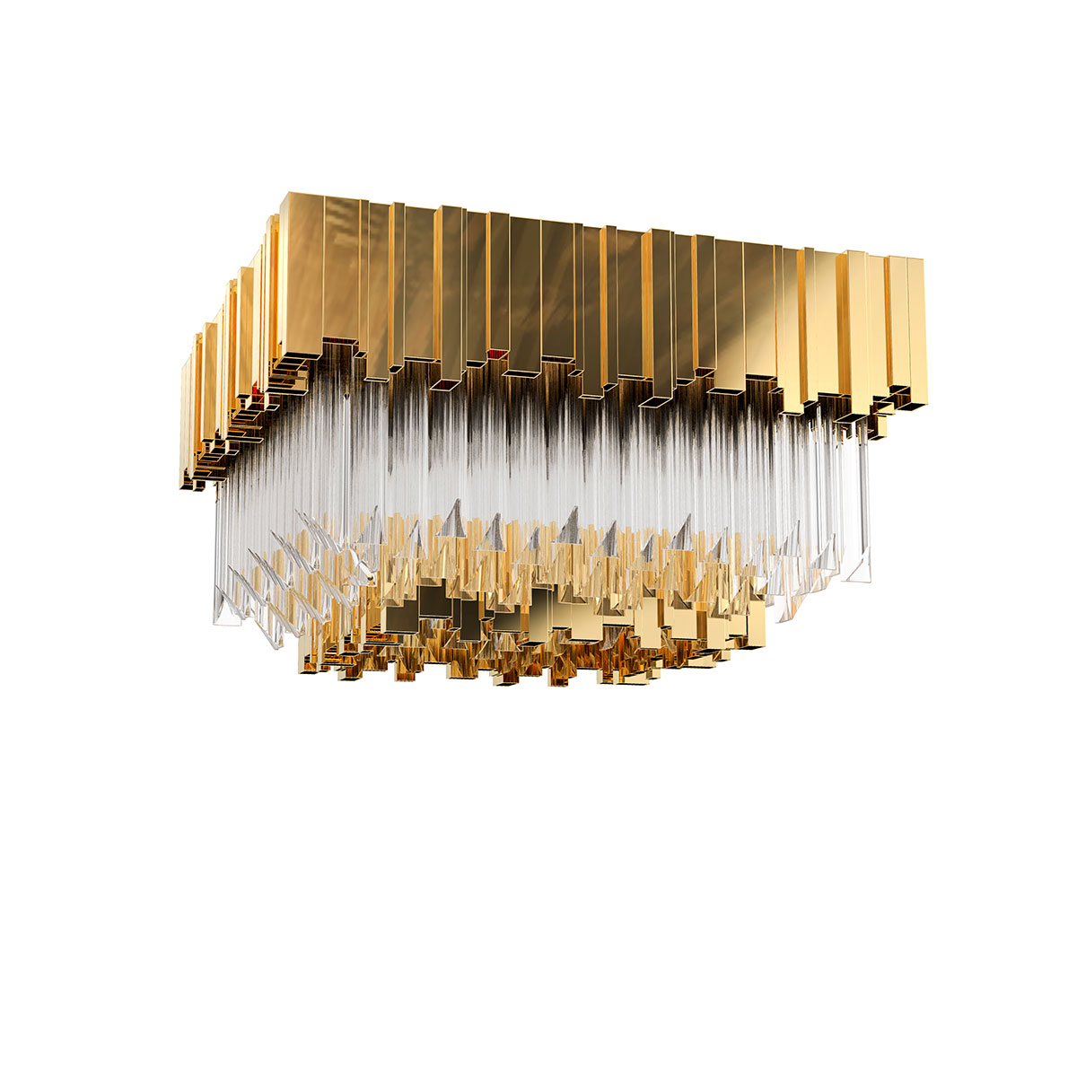 Empire Square Plafond Lamp by Luxxu Covet Lighting