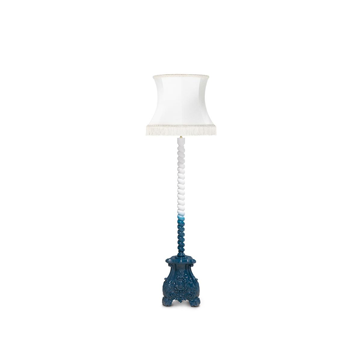 Skyscraper Blue Floor Lamp by Boca do Lobo Covet Lighting