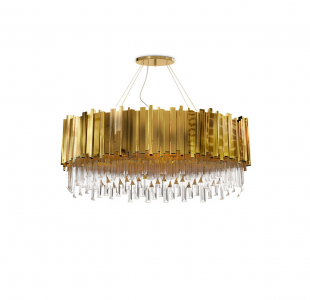 Empire Oval Suspension Lamp by Luxxu Covet Lighting