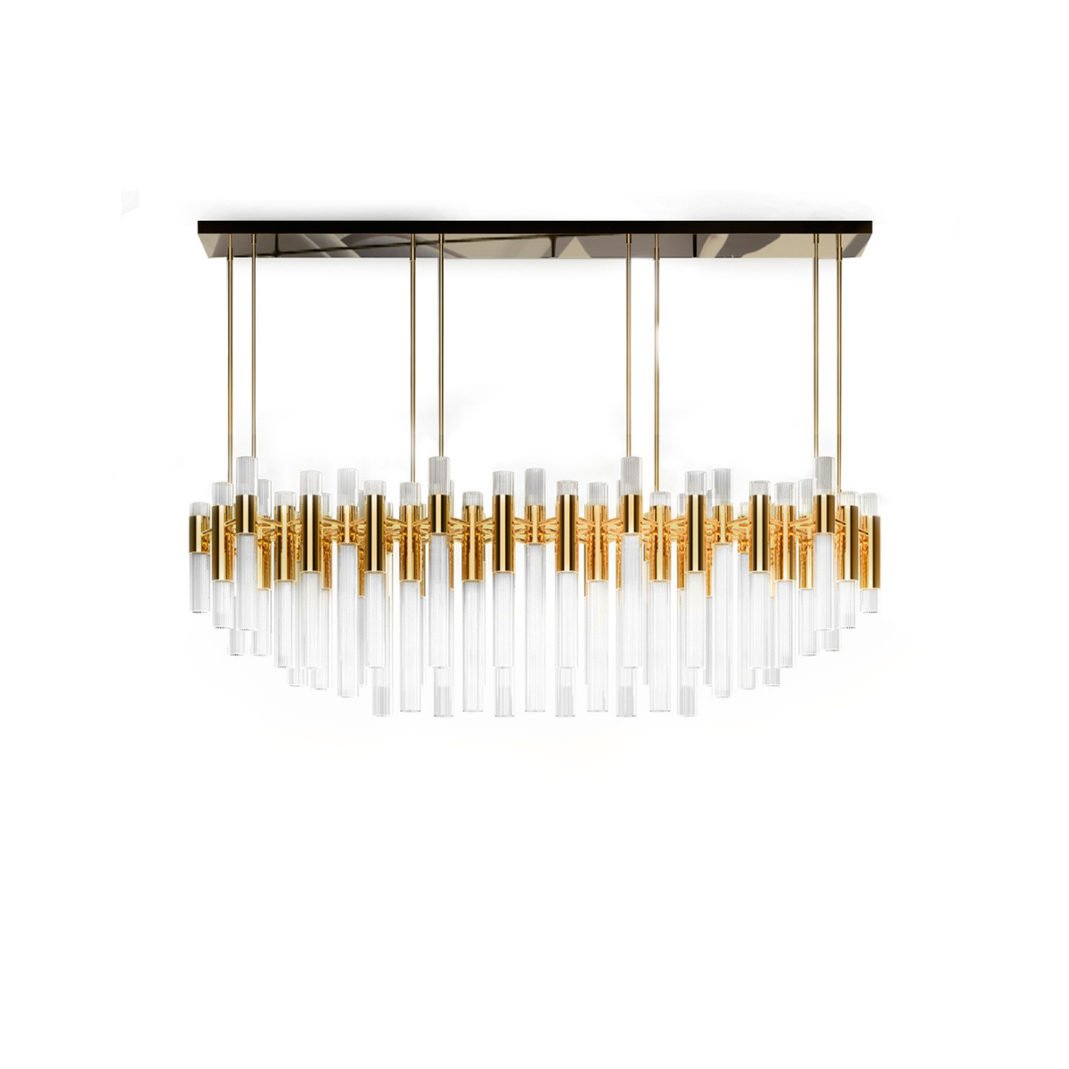 Waterfall Rectangular Suspension Lamp by Luxxu Covet Lighting