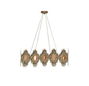 Vivre Rectangular Chandelier by Koket Covet Lighting