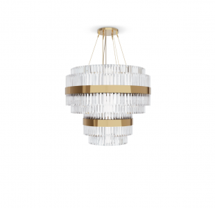 Liberty Round Chandelier by Luxxu Covet Lighting