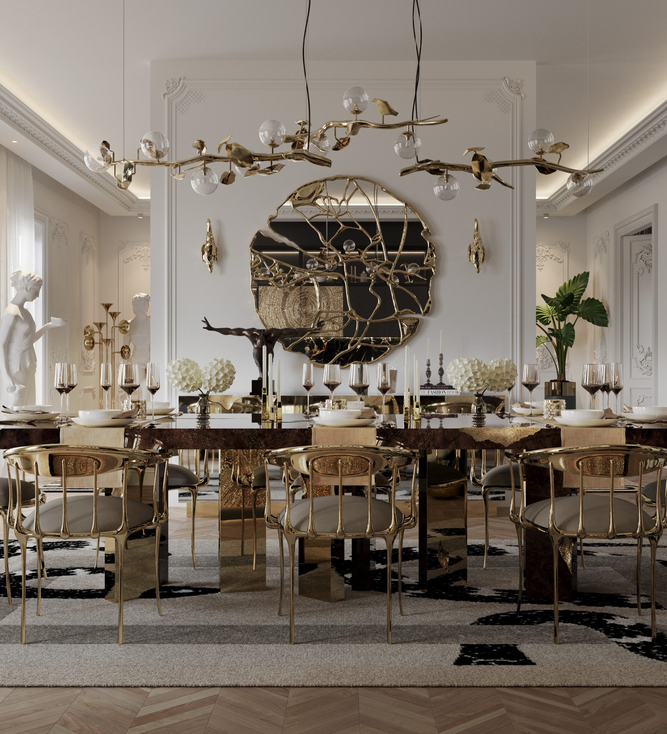 LUXURY DINING ROOM WITH A PARISIAN LOOK
