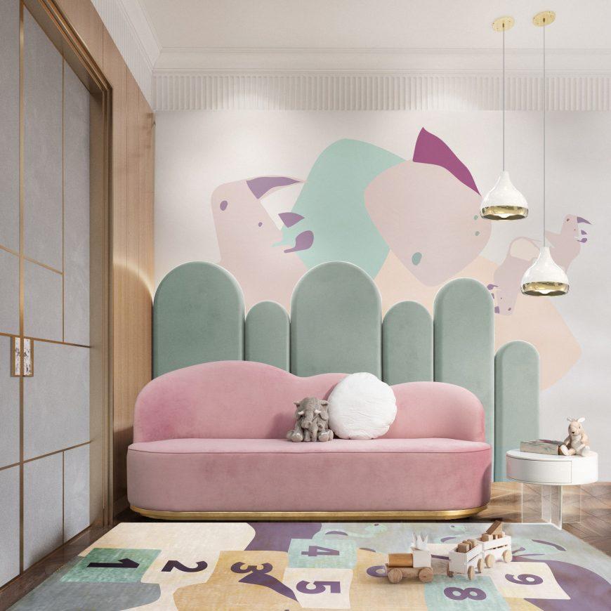 playroom featuring hanna pendant by delightfull covet lighting